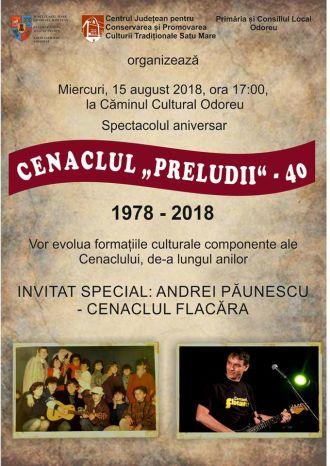 Cenaclul Preludii la Odoreu. Andrei Păunescu invitat