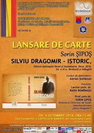 """""""Silviu Dragomir – istoric"""". Lansare de carte la Carei"""
