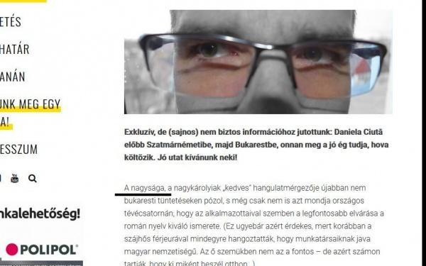 Megyeri Tamas Robert  incită cititorii de limbă maghiară