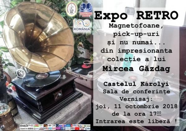 Expo RETRO la Castelul din Carei. Colecţia de Magnetofoane cu bandă a lui Mircea Găzdag
