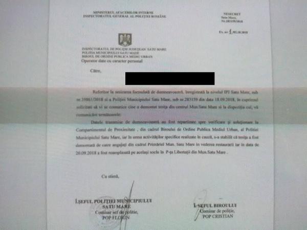Poliţia Municipiului Satu Mare confirmă informaţiile Buletin de Carei în Cazul Troiţa