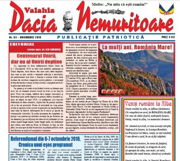 Revista Dacia Nemuritoare la numărul 63