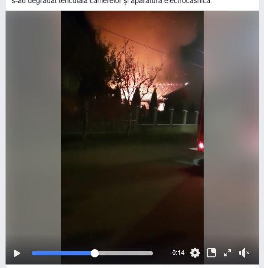 Incendiu de amploare la o casă de locuit din Tășnad