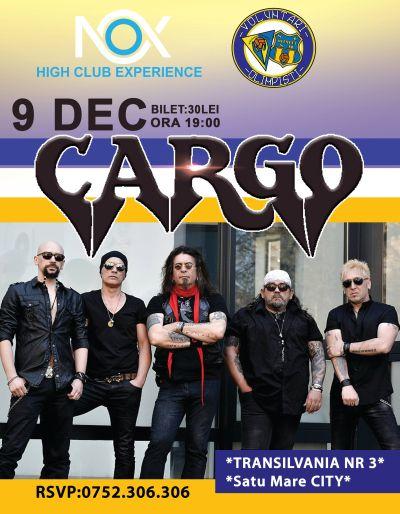 Concert Cargo la Satu Mare pentru susţinerea echipei Olimpia