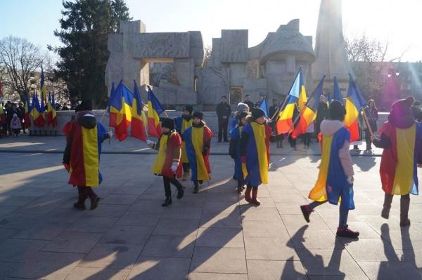 Centenar Carei. Careienii s-au mobilizat şi au ieşit cu steaguri tricolore