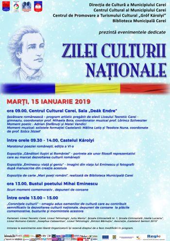 Manifestări de Ziua Culturii Naţionale
