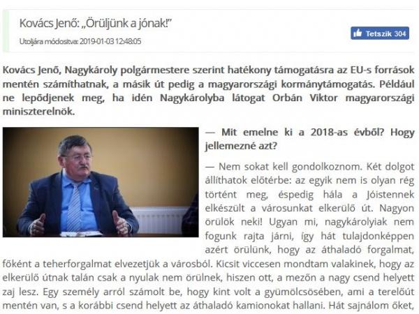 Kovacs aşteaptă la Carei vizita premierului Ungariei Viktor Orban
