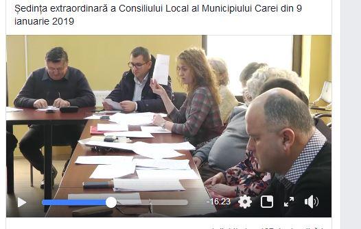 Directorul financiar al Spitalului Carei la  masa consilierilor în grupul PSD