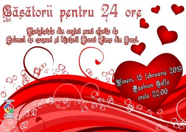 """Centrul Cultural al Municipiului Carei organizează """"Căsătorii pentru 24 de ore"""""""