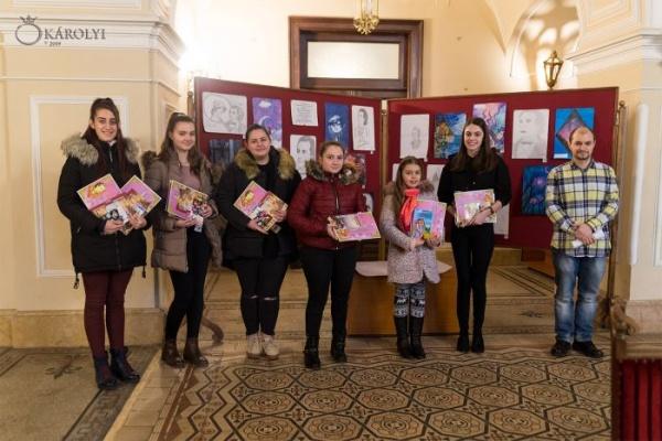 Premiile concursului de grafică şi desen de la Carei