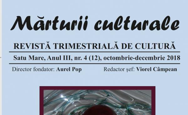 Revista ,,Mărturii Culturale,, la a 4-a apariție. Informații prețioase despre ASTRA Tășnad
