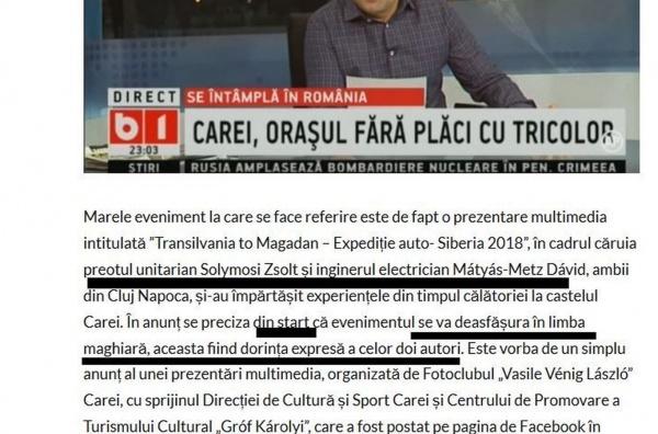 Consilierul primarului datornic Kovacs dă din casă după emisiunea de la B1 TV. Clujenii vor  expunere DOAR în limba maghiară