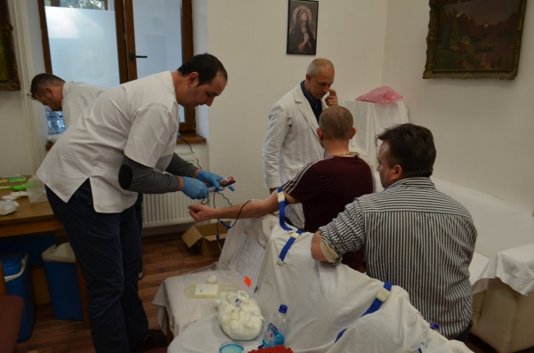 Donare de sânge la sediul Centrului Social Carei