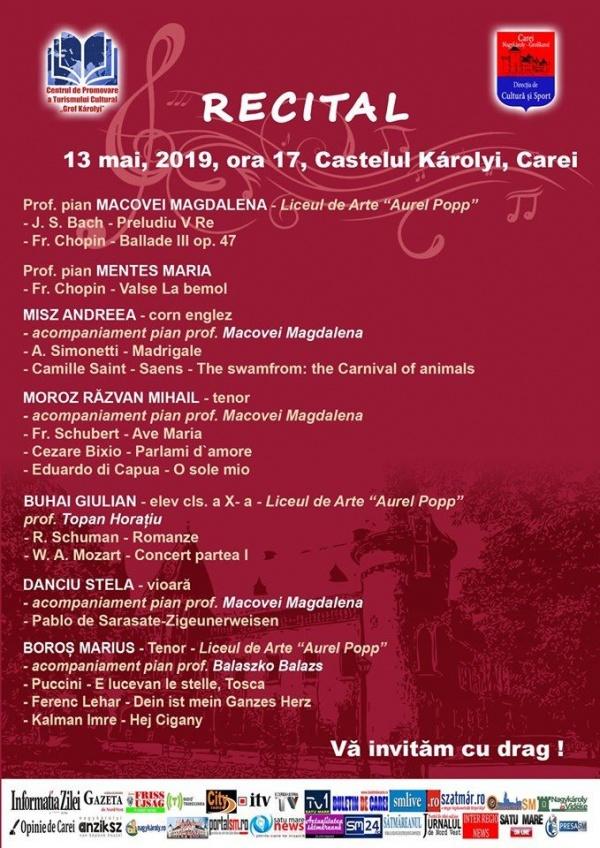 Recital de muzică clasică la Castel