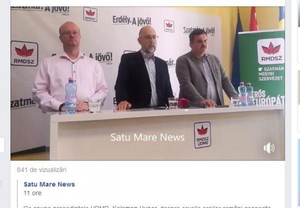 Liderul UDMR vrea voturi de la români dar la Carei s-au dat jos de pe primărie plăcile oficiale cu însemne naționale de către primarul udemerist