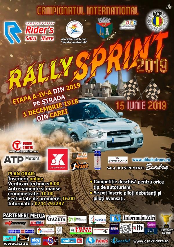 Zeci de concurenți înscriși la Rally  Sprint  Carei 2019