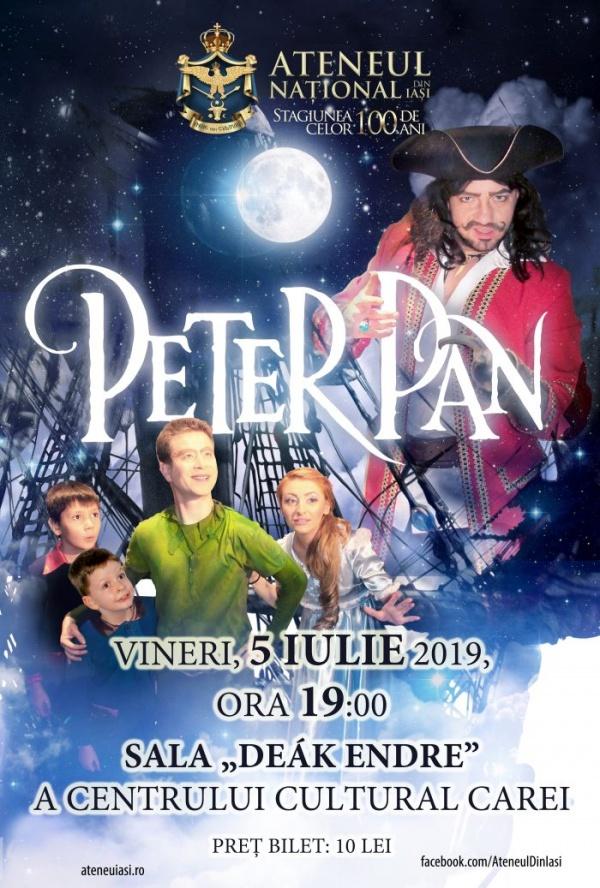 Teatru în limba română pentru copii. Peter Pan în turneu