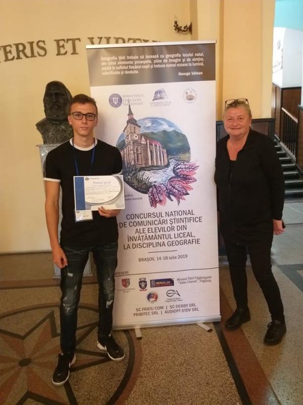 Vaipan Iulian din Carei a obținut Premiul Special acordat de Societatea de Geografie din România