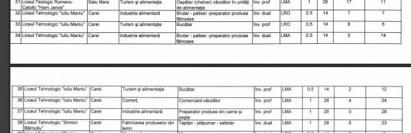 Interes redus pentru clasele de meserii cu predare în limba maghiară de la Carei. Nicio clasă cu predare în limba română pentru comercianți