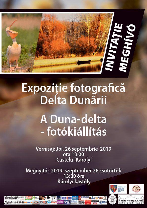 """Expoziție de fotografie """"Delta Dunării"""" la Carei"""
