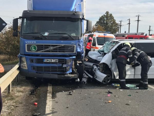 Accident grav la ieșirea din Satu Mare spre Carei