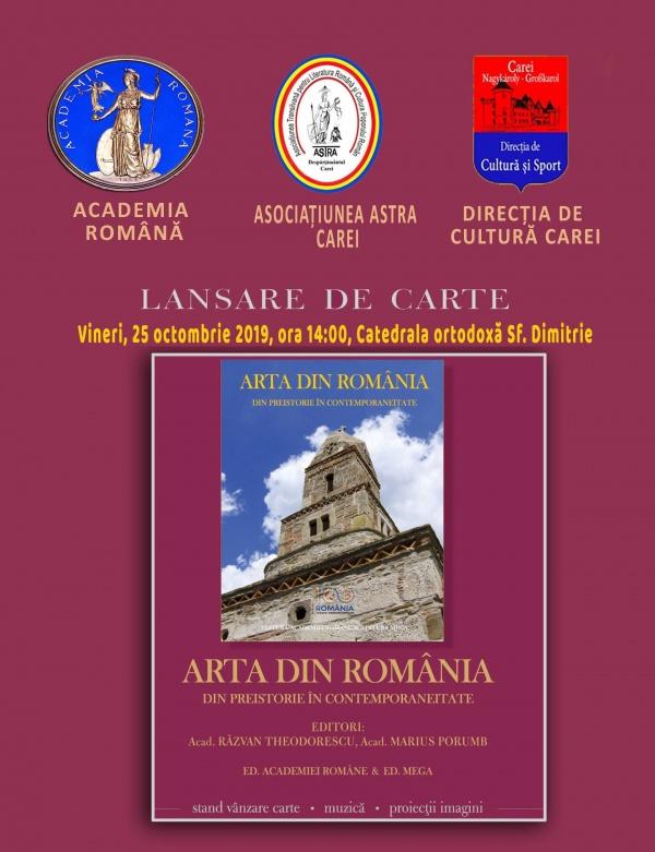 Moment istoric la Carei. Carte-monument lansată de academicianul Marius Porumb