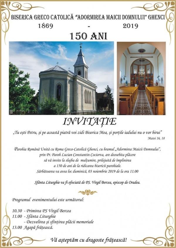 Liturghie Arhierească la Ghenci. Invitaţie