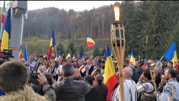 Mesaj de la Carei pentru Eroii Armatei Române de la Valea Uzului