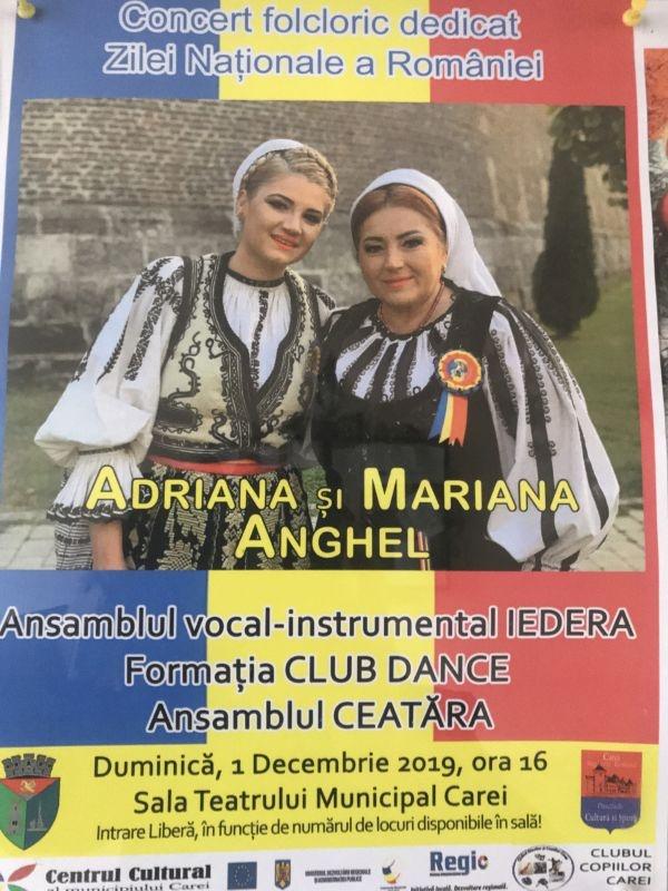 Mariana Anghel cântă la Carei de Ziua Națională