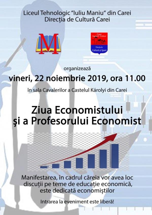 """Ziua Economistului  marcată de Liceul Tehnologic """"Iuliu Maniu"""" Carei"""