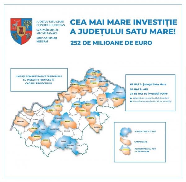 Contract de 252 de milioane de euro pentru apă potabilă de bună calitate în 34 de localități din județ