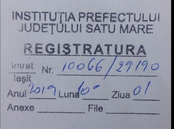 Nici Instituția Prefectului Satu Mare nu răspunde în 30 de zile sesizărilor înregistrate