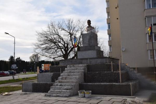 Ritm susținut la lucrările ansamblului monumental Avram Iancu din Carei