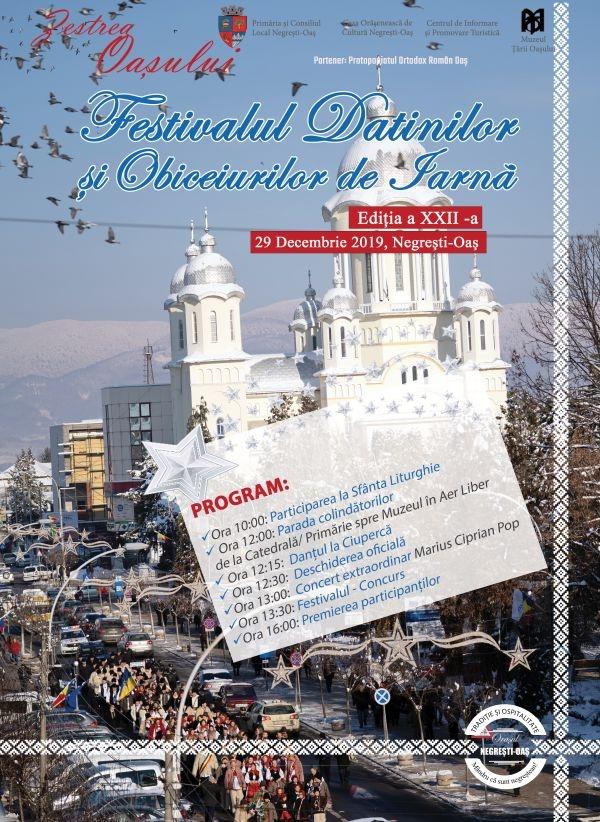 Invitație la ,,Zestrea Oașului,,  Festivalul Datinilor şi Obiceiurilor de Iarnă Negrești-Oaș 2019