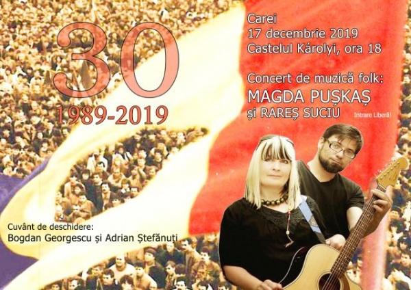 Folk la Carei cu Magda Puskas și Rareș Suciu