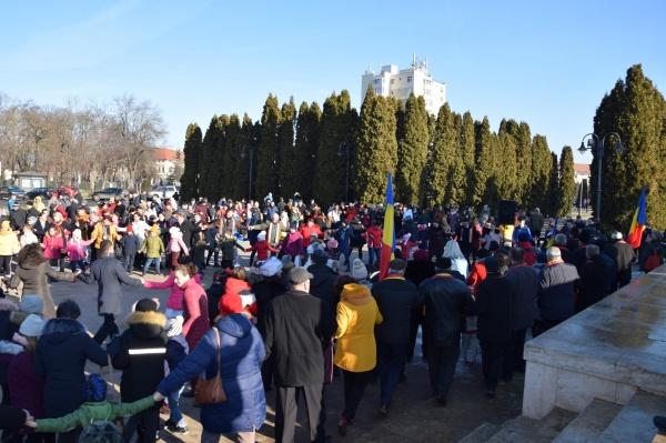 Hora Unirii s-a dansat și la Carei de Ziua Unirii Principatelor Române