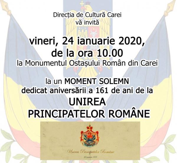 Unirea Principatelor Române marcată la Carei de Direcția de Cultură