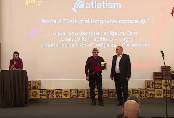 Cupa 25 Octombrie Carei premiată la GALA Atletismului Românesc ca cea mai longevivă competiție