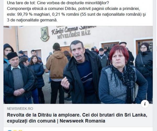 La Ditrău e cu migranți iar la Carei  cu români