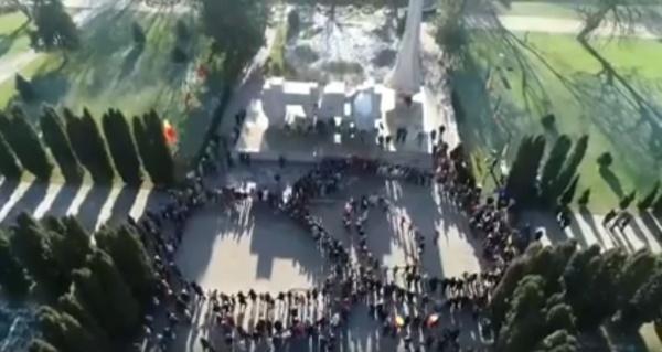 VIDEO. Hora Unirii la Carei văzută de sus