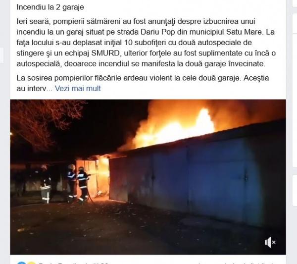 Incendii la Negrești Oaș și Satu Mare