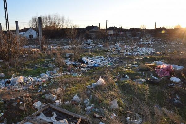 Groapa de gunoi de lângă GARA CFR Carei