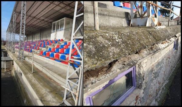 Scaune noi la stadionul municipal Victoria. Tribuna cere recondiționare