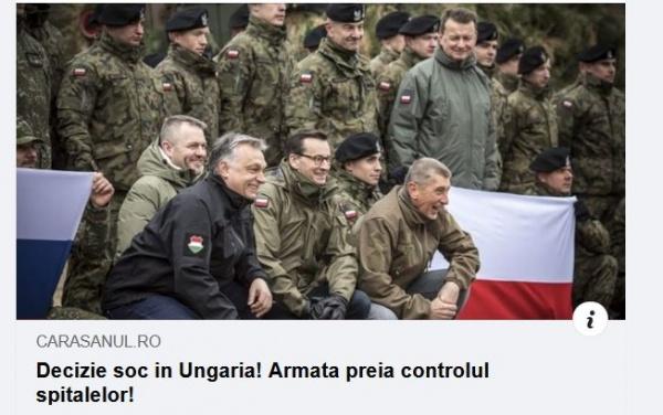 Armata preia controlul spitalelor în Ungaria
