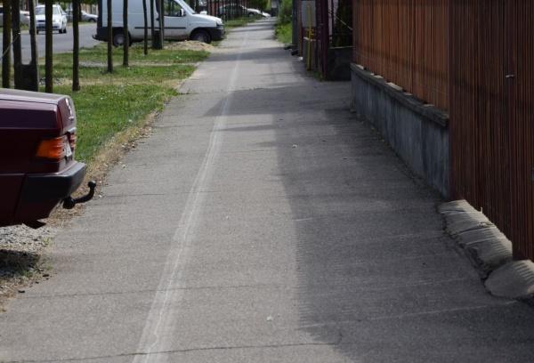 Pista de biciclete de pe strada Agoston din Carei