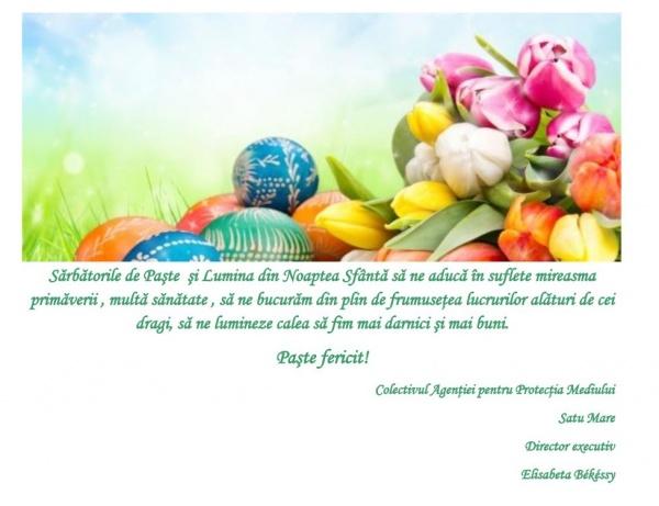 Mesajul APM Satu Mare cu ocazia Sărbătorilor Pascale