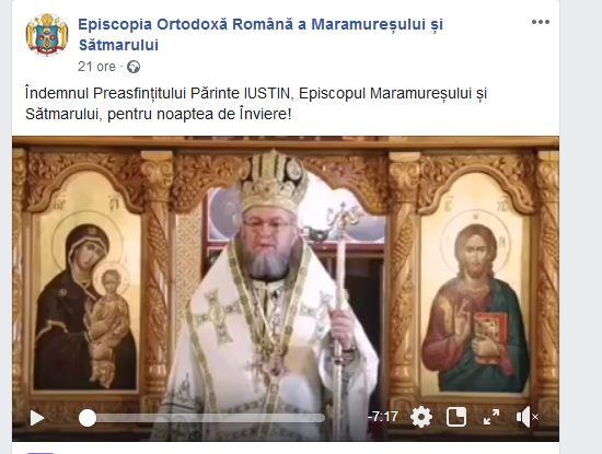 VIDEO. Îndemnul Episcopului Iustin pentru Învierea Domnului