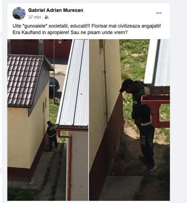 Angajații Florisal caută wc public