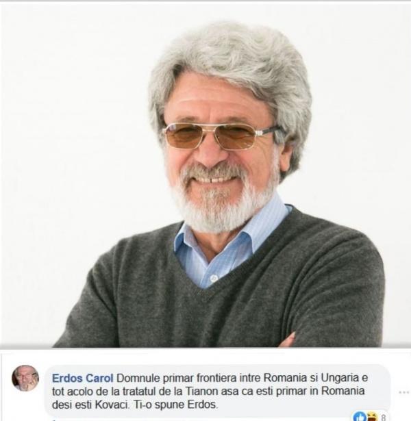 Comentariul săptămânii vine de la renumitul actor Carol Erdos