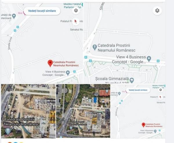 Google Bucuresti amendat pentru 'Catedrala Prostirii Neamului'. Decizia va fi publicată pe prima pagină